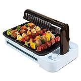 ZYY~ Koreanischer elektrischer Grill Haushalt Infrarot Tragbarer Grill Grillen 3D Gewerbehaus Rauchfreie Grillmaschine Antihaft