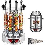 Vertikaler Rotisserie-Ofen, automatische Rotationsheizung aus Edelstahl, Timing-Elektrogrill für den Innenbereich, geeignet für Familien- und Freundesversammlungen,10forks